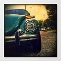 beetle Canvas Prints featuring Beetle by Melissa Lund