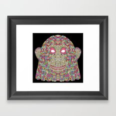 Space Monkey Framed Art Print