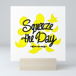 Squeeze the Day with Lemons Mini Art Print