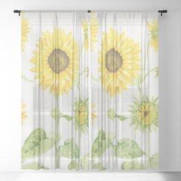 Sunflowers Garden Sheer Curtain