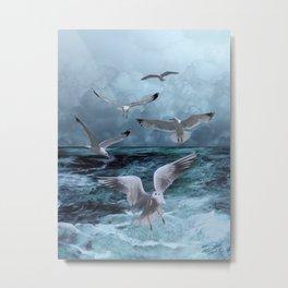 Gulls' Banquet Metal Print