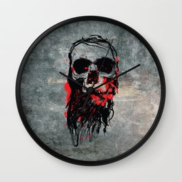 Blood Skull Wall Clock