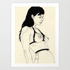 Lovely Lingerie Eins Art Print