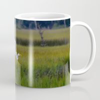 grace Mugs featuring grace by Lisa Carpenter