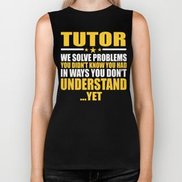 Tutor Gift Problem Solver Saying Biker Tank