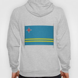 Flag of Aruba.  The slit in the paper with shadows. Hoody