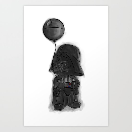 darth vader & death star! Art Print