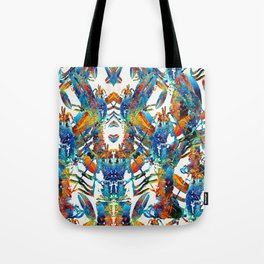 Colorful Lobster Collage Art - Sharon Cummings Tote Bag
