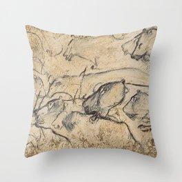 Aurignacian Art Throw Pillow