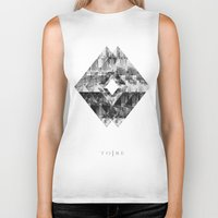 cityscape Biker Tanks featuring Cityscape   by To Be Design