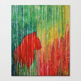 cat siluette Canvas Print
