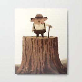 Lumberpig Metal Print