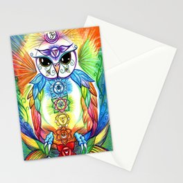 Chakra Owl Stationery Cards
