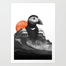 The Hipster Puffin Art Print