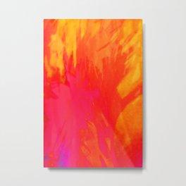 acid orange Metal Print