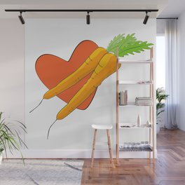 Carrot Heart Wall Mural