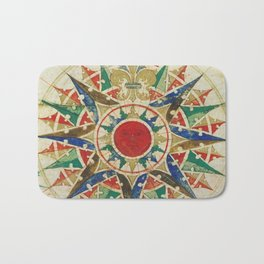 Vintage Compass Rose Diagram (1502) Bath Mat