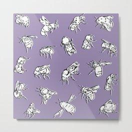 Bombus Lapidarius - Purple Metal Print