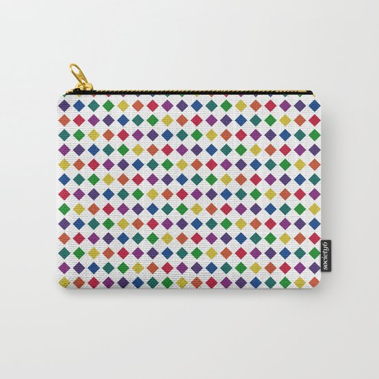 Colorful Seamless Rectangular Geometric Pattern Carry-All Pouch