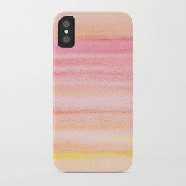 Watercolour Stripes iPhone Case