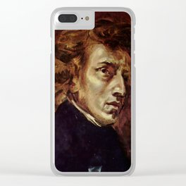 The Portrait of Frédéric Chopin by French artist Eugène Delacroix (1838) Clear iPhone Case