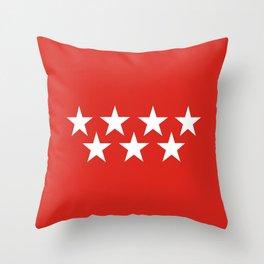 madrid spain city flag Throw Pillow
