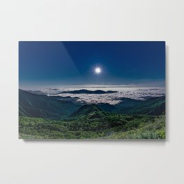 Moonlight Sonata Mountainous Clouds Photographic Metal Print