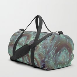 Turquoise Anemone Polyps Duffle Bag