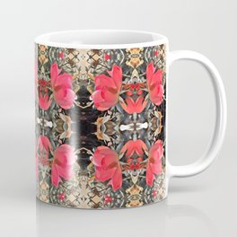 multiple rose pattern, warm red pink ombre Coffee Mug