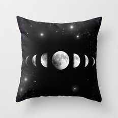 Stars and Moons Throw Pillow