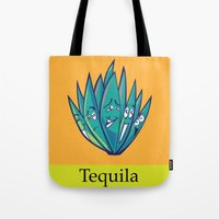 tequila Tote Bags featuring Tequila by Heather Martinez