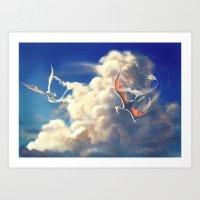 Cloud Dragons Art Print