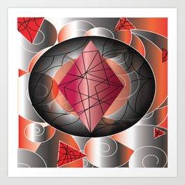 RedDiamond Art Print