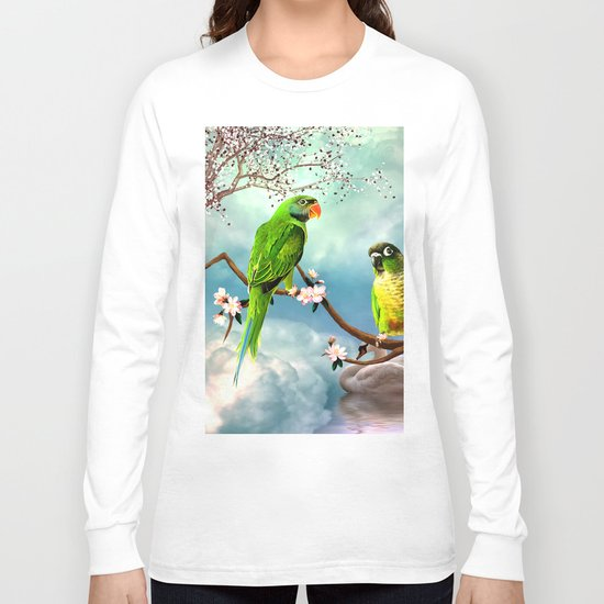 Wonderful, cute parrots Long Sleeve T-shirt