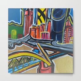 Brisbane City - A Bright Painting Metal Print