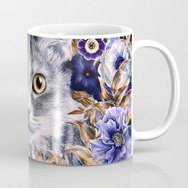 Cat in Flowers. Autumn Coffee Mug