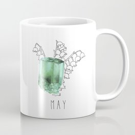 May Birthstone - Emerald and Lily of the Valley Coffee Mug