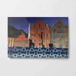 Bergen Reflections Metal Print