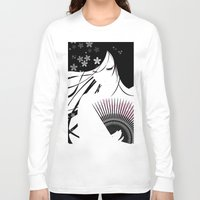 asian Long Sleeve T-shirts featuring Asian Obsession by DesignDinamique