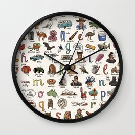 The Australian Alphabet Wall Clock