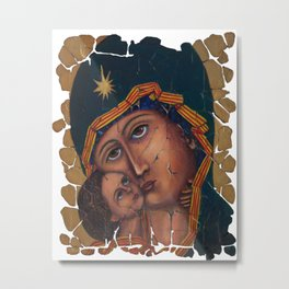 Mother Of God by OLena Art Metal Print