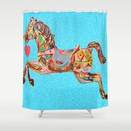 Carousel Horse Shower Curtain