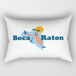 Boca Raton  - Florida. Rectangular Pillow