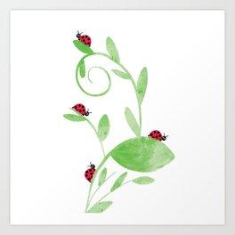 Ladybirds Art Print