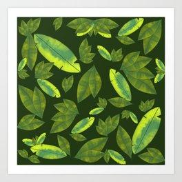 Banana leaf print #garden #nature #leafprint Art Print