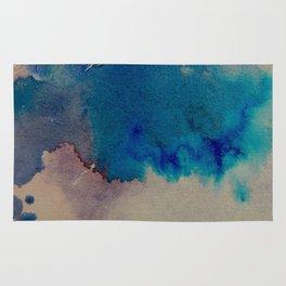 WaterColor Multi Blue Print Rug