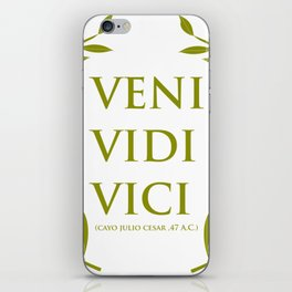 VENI VIDI VICI iPhone Skin