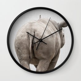 Rhino Tail - Colorful Wall Clock