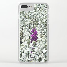 Purple One Clear iPhone Case