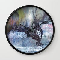 cocaine Wall Clocks featuring She Said It Was Just Cocaine by Jess & Keegan